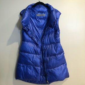 Ermanno Scervino Long Royal Blue Puffer Vest Sz S